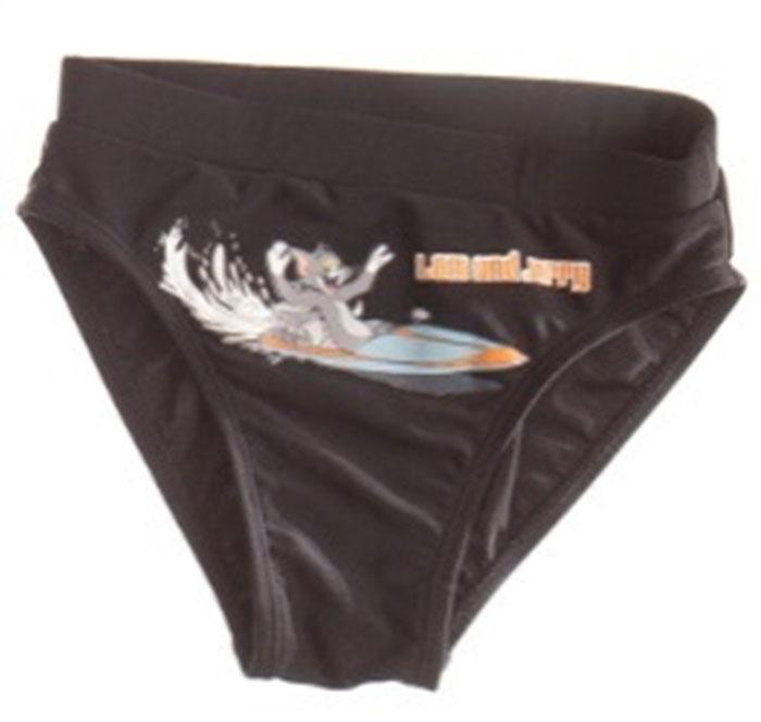 Плавки для мальчика Tom and Jerry, цвет: черный. K022. Размер 52K022Оригинальные плавки для мальчика выполнены из нейлона и спандекса. Модель отлично сидит по фигуре. Идеальный вариант для пляжного отдыха.