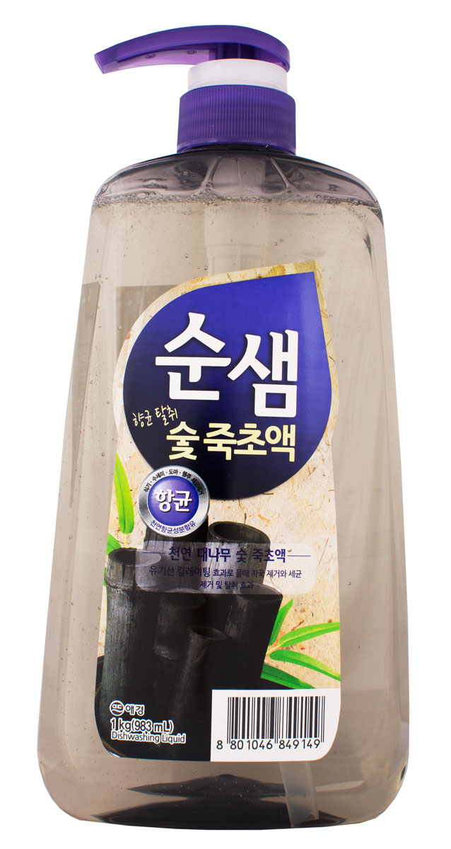 Средство для мытья посуды Soonsaem Бамбуковый уголь, 1 л849149Средство для мытья посуды Soonsaem Бамбуковый уголь имеет следующие особенности: - антибактериальное - удаляет болезнетворные бактерии, микробы и неприятные запахи; - не содержит искусственных красителей; - не оставляет разводов (идеально для мытья посуды из стекла); - подходит для мытья фруктов и овощей; - является средством для мытья посуды высшей категории.Товар сертифицирован.