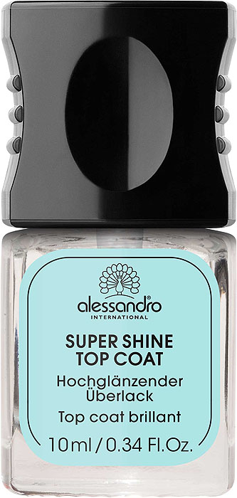 Alessandro Глянцевое верхнее покрытие Super Shine Top Coat, 10 мл opi покрытие верхнее быстрая сушка rapidry top coat 15 мл
