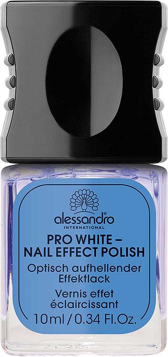 Alessandro Отбеливающий лак для ногтей Pro White - Nail Effect Polish, 10 мл alessandro отбеливающий лак для ногтей pro white glitter nail effect polish сверкающий 10 мл
