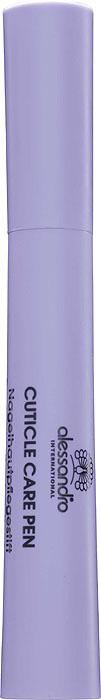 Alessandro Карандаш для ухода за кутикулой Cuticle Care Pen, 4,5 мл03-023Питательный карандаш Alessandro защищает, увлажняет и придает кутикуле ухоженный вид. Активные компоненты алоэ вера, авокадо, подсолнечное масло, соевое масло, витамины A, C и E, - успокаивают и увлажняют кутикулу. Характеристики:Объем: 4,5 мл. Артикул: 03-023. Производитель: Германия. Товар сертифицирован.