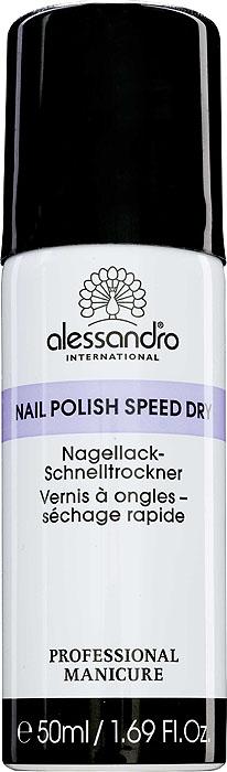 Alessandro Спрей-сушка для лака Nail Polish Speed Dry, 50 мл03-033Спрей-сушка Alessandro Nail Polish Speed Dry ускоряет процесс высыхания любого лака для ногтей, помогает предотвратить смазывание лака и защищает поверхность от возникновения царапин.Способ применения: распылять на поверхности ногтей на расстоянии 10 см. Характеристики:Объем: 50 мл. Артикул: 03-033. Производитель: Германия. Товар сертифицирован.