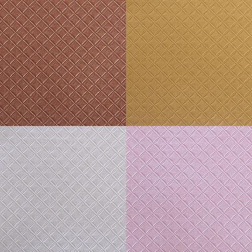 """Бумага текстурная Craft Premier """"Алмазная грань"""", цвет: в ассортименте, 4 листа, 20 см х 20 см"""