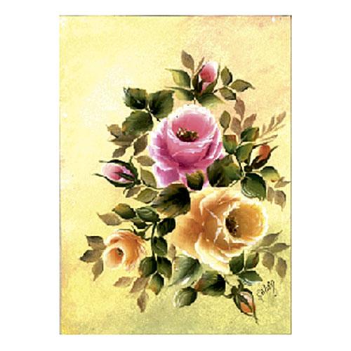 """Трансфер универсальный """"Розы на желтом фоне"""", 17 х 25 см G-12, Cadence"""