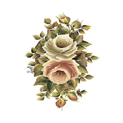 """Трансфер по ткани """"Чайная роза"""", 17 см х 25 см. KT-97, Cadence"""