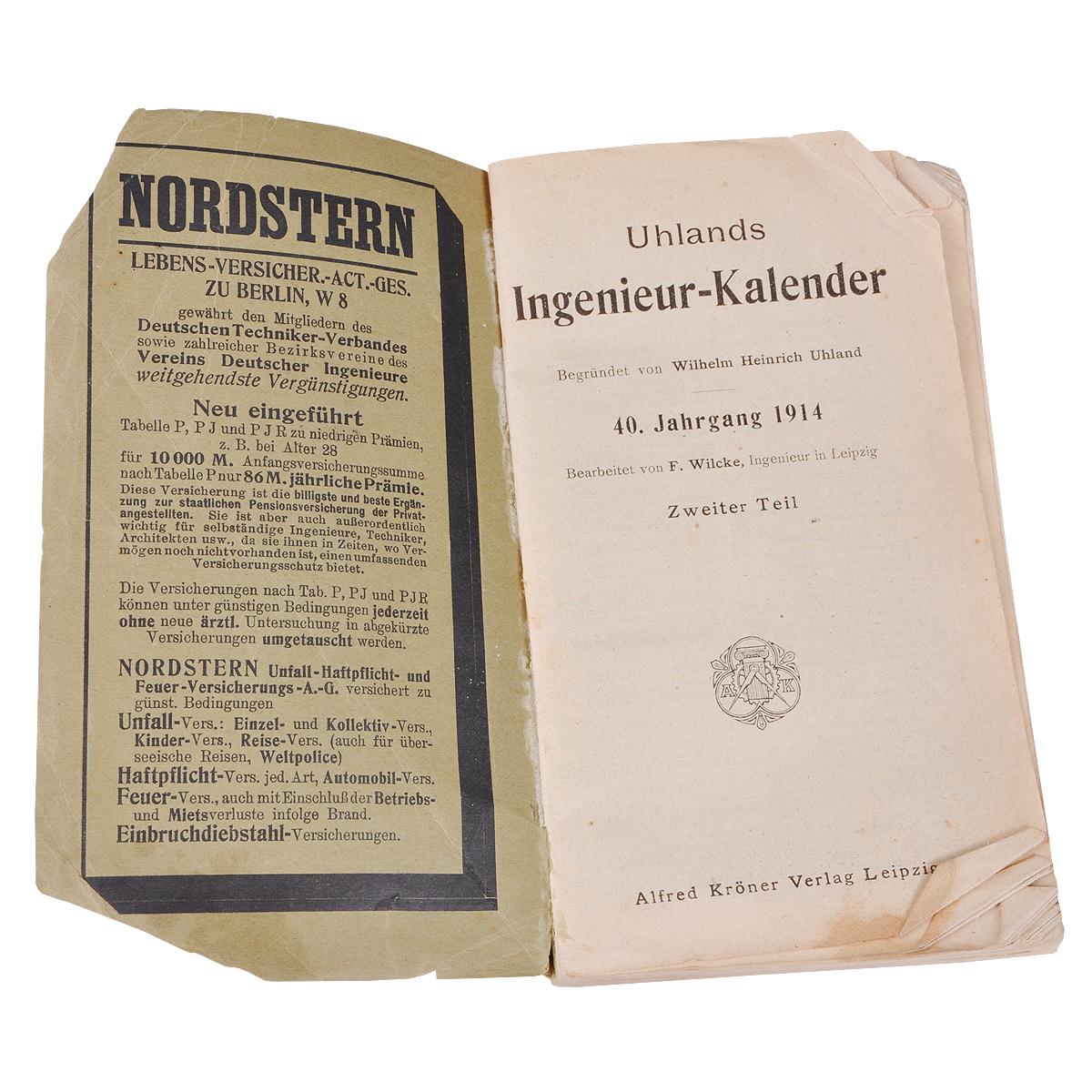 Uhlands Ingenieur-Kalender 1914.