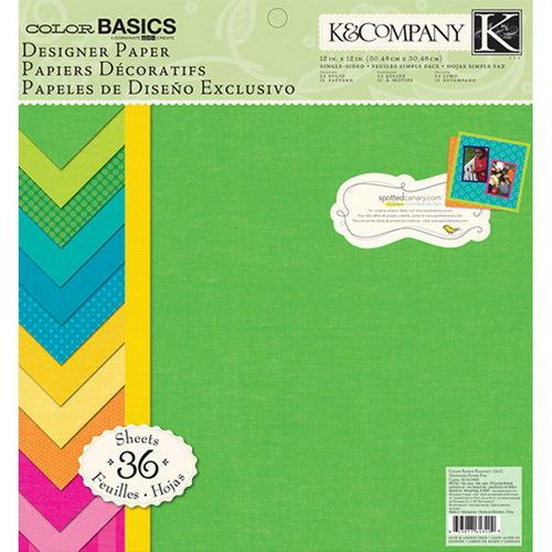 Набор бумаги для скрапбукинга K&Company Основные, 31 см х 31 см, 36 листовKCO-30-613409Набор бумаги для скрапбукинга K&Company позволит создать красивый альбом, фоторамку или открытку ручной работы, оформить подарок или аппликацию. Набор включает 36 листов из плотной бумаги с односторонней печатью, всего 18 видов. Из них 24 листа однотонные, 12 листов - с рисунком. Бумага не содержит лигнин и кислоты.Скрапбукинг - это хобби, которое способно приносить массу приятных эмоций не только человеку, который этим занимается, но и его близким, друзьям, родным. Это невероятно увлекательное занятие, которое поможет вам сохранить наиболее памятные и яркие моменты вашей жизни, а также интересно оформить интерьер дома. Характеристики: Материал: бумага. Размер листа: 31 см х 31 см. Количество листов: 36. Размер упаковки: 31 см х 32,5 см х 1 см. Артикул: KCO-30-613409.
