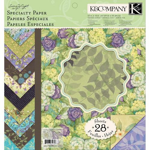 Набор бумаги для скрапбукинга K&Company Мир растений, 31 х 31 см, 28 листовKCO-30-614703Набор бумаги для скрапбукинга K&Company позволит создать красивый альбом, фоторамку или открытку ручной работы, оформить подарок или аппликацию. Набор включает 28 листов из плотной бумаги с двухсторонней печатью, всего 14 видов. Из них 16 листов матовые, 4 листа с тиснением фольгой, 8 листов с блестками. Бумага не содержит лигнин и кислоты. Скрапбукинг - это хобби, которое способно приносить массу приятных эмоций не только человеку, который этим занимается, но и его близким, друзьям, родным. Это невероятно увлекательное занятие, которое поможет вам сохранить наиболее памятные и яркие моменты вашей жизни, а также интересно оформить интерьер дома. Характеристики: Материал: бумага. Дизайн: Susan Winget. Размер листа: 31 см х 31 см. Количество листов: 28. Размер упаковки: 31 см х 32,5 см х 0,7 см. Артикул: KCO-30-614703.
