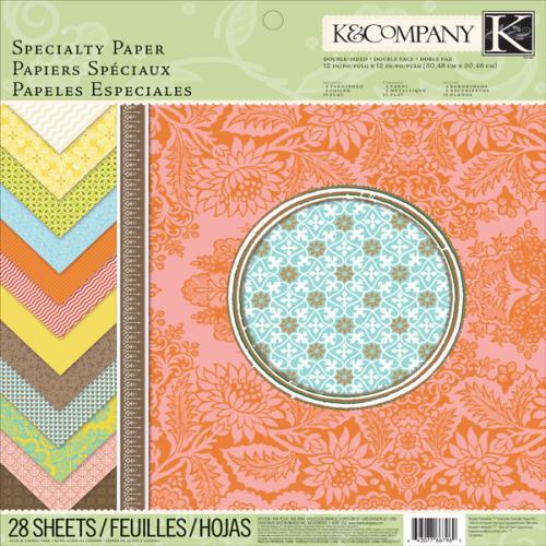 """Набор бумаги для скрапбукинга K&Company """"Почтовый штемпель"""", 31 х 31 см, 28 листов"""