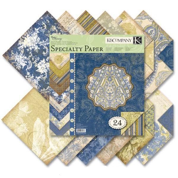 Набор бумаги для скрапбукинга K&Company Голубые узоры, 31 см х 31 см, 24 листаKCO-625358Набор бумаги для скрапбукинга K&Company позволит создать красивый альбом, фоторамку или открытку ручной работы, оформить подарок или аппликацию. Набор включает 24 листа из плотной бумаги с двухсторонней печатью, всего 12 видов. Из них 2 листа оформлены блестками, 16 листов матовые, 2 листа покрыты тонким слоем белой пены, 2 листа с тиснением, 2 листа глянцевые. Бумага не содержит лигнин и кислоты.Скрапбукинг - это хобби, которое способно приносить массу приятных эмоций не только человеку, который этим занимается, но и его близким, друзьям, родным. Это невероятно увлекательное занятие, которое поможет вам сохранить наиболее памятные и яркие моменты вашей жизни, а также интересно оформить интерьер дома. Характеристики: Материал: бумага. Размер листа: 31 см х 31 см. Количество листов: 24. Размер упаковки: 31 см х 32,5 см х 0,5 см. Артикул: KCO-625358.
