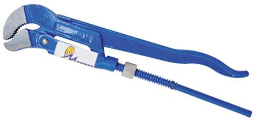 Ключ трубный Мамонт тип S, № 2 - 1 1/2, 420 мм30104212Ключ тип S - для работ в труднодоступных местах и для захвата сложных по форме деталей. Предназначены для захватывания и вращения труб и соединительных частей трубопроводов. Ключ выкован целиком из высококачественной хромованадиевой стали. Имеет порошковое антикоррозийное покрытие. Характеристики: Материал: сталь. Длина ключа: 42 см. Размер упаковки: 43 см х 9 см х 2,5 см.