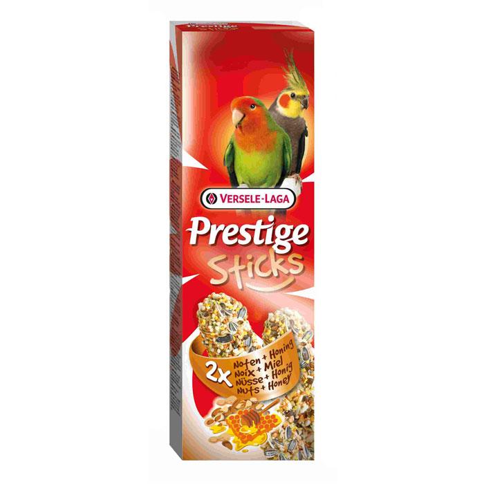 Лакомство Versele-Laga для средних попугаев, палочки с орехами и медом, 2х70 г лакомство для средних попугаев веселый попугай две палочки с орехами 35 г 2 шт