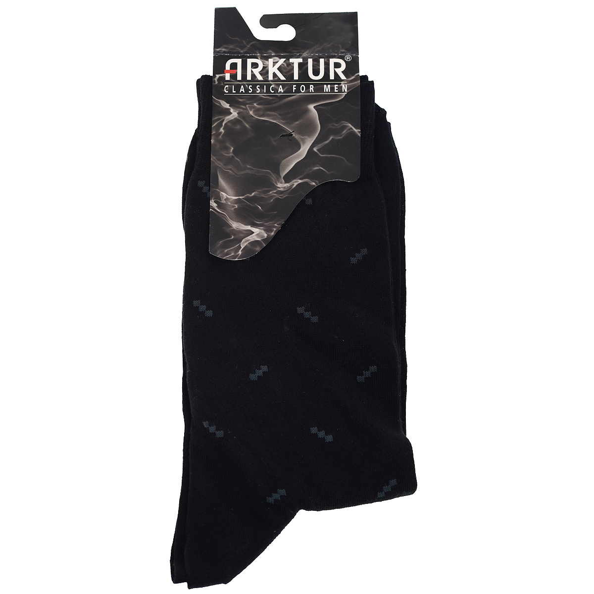 Носки мужские Arktur, цвет: черный. Л207. Размер 42/43Л207Мужские носки из высококачественного сырья европейского производства. Комфортные и прочные. Удобная широкая резинка пресс-контроль не сдавливает ногу. Усиленная пятка и мысок. Удлиненный паголенок.