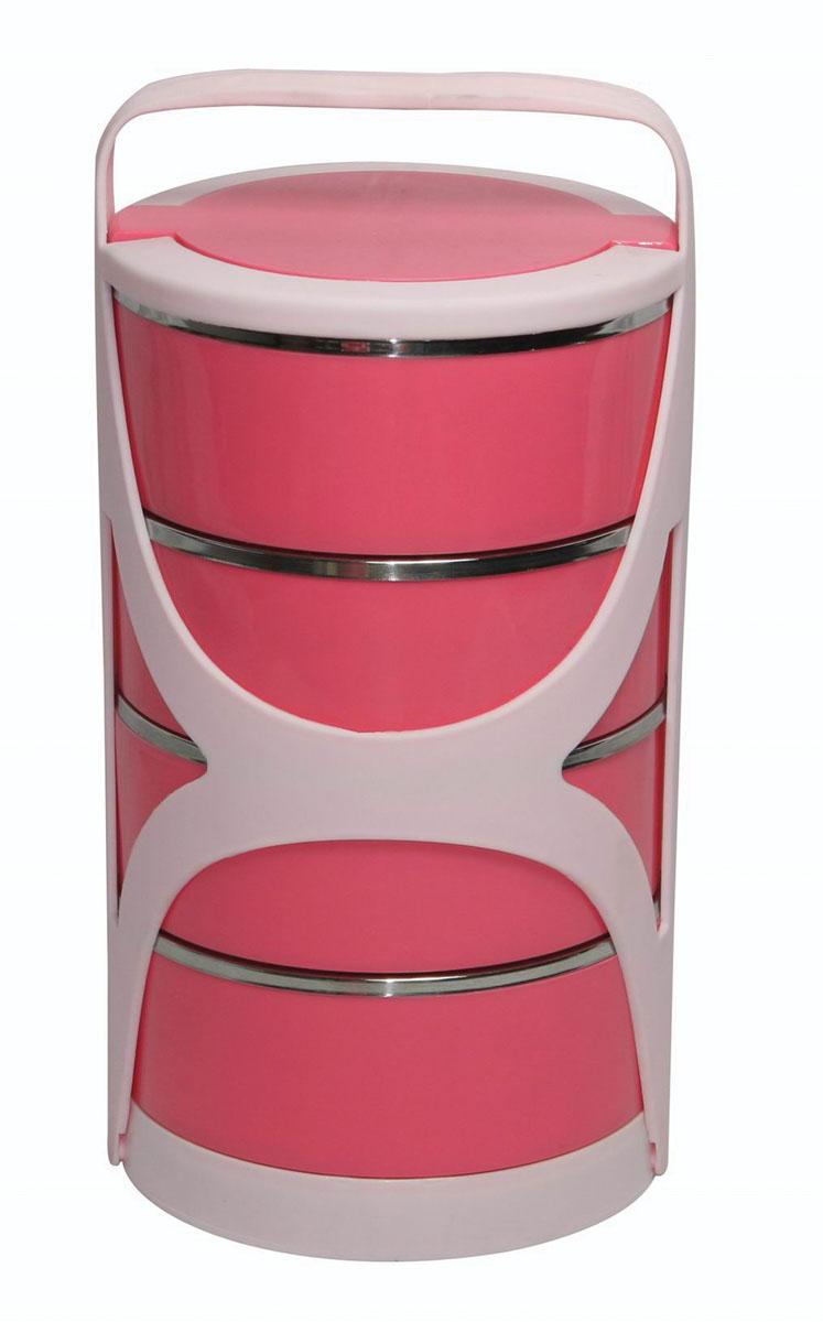 """Набор Bekker """"Koch"""" состоит из 4 термоконтейнеров, предназначенных для хранения пищевых продуктов, и пластикового держателя. Термоконтейнеры, располагающиеся друг над другом, снаружи выполнены из качественного пластика, внутри - из нержавеющей стали. Двойные стальные стенки термоконтейнеров обеспечивают длительное сохранение температуры содержимого. Пластиковые крышки и держатель обеспечивают герметичность хранения продуктов. Не подходит для использования в посудомоечной машине. Не использовать абразивные чистящие средства.    Набор термоконтейнеров Bekker """"Koch"""" идеально подойдет для поездок, похода, активного отдыха.   Характеристики:  Материал: пластик, нержавеющая сталь. Объем 1 термоконтейнера: 600 мл. Размер 1 термоконтейнера: 15 см х 15 см х 6 см. Общий размер конструкции: 30 см х 15 см х 15 см. Размер упаковки: 30 см х 16 см х 16 см. Производитель: Германия. Изготовитель: Китай. Артикул: BK-4314."""