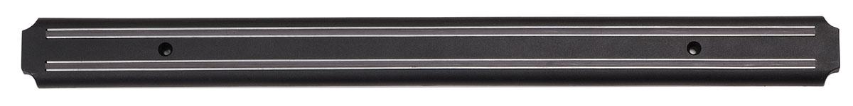 """Держатель для ножей """"Bekker"""" выполнен из пластика и предназначен для удобного хранения металлических приборов на кухне. Крепкие магнитные полосы надежно удержат все приборы. В комплекте - крепежные элементы, с помощью которых держатель можно прикрепить к стене. Теперь кухонные принадлежности не нужно искать, они надежно прикреплены к держателю и всегда на видном месте. Характеристики:   Материал: пластик, магнит. Цвет: черный. Длина: 55 см. Ширина: 4,5 см. Артикул: BK-5506."""