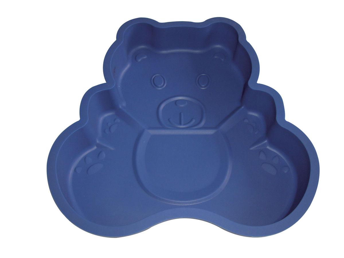 Форма для выпечки Bekker Медвежонок, силиконовая, цвет: синийBK-9420Форма для выпечки Bekker Медвежонок изготовлена из силикона.Силиконовые формы для выпечки имеют много преимуществ по сравнению с традиционными металлическими формами и противнями. Они идеально подходят для использования в микроволновых, газовых и электрических печах при температурах до +230°С. В случае заморозки до -40°С. Можно мыть в посудомоечной машине.За счет высокой теплопроводности силикона изделия выпекаются заметно быстрее. Благодаря гибкости и антиприлипающим свойствам силикона, готовое изделие легко извлекается из формы. Для этого достаточно отогнуть края и вывернуть форму (выпечке дайте немного остыть, а замороженный продукт лучше вынимать сразу).Силикон абсолютно безвреден для здоровья, не впитывает запахи, не оставляет пятен, легко моется.Форма для выпечки Bekker Медвежонок - практичный и необходимый подарок любой хозяйке! Характеристики:Материал: силикон.Внутренний размер формы: 21 см х 22 см х 3,5 см.Размер упаковки: 25 см х 24 см х 4 см.Производитель: Германия.Изготовитель: Китай.Артикул: BK-9420.