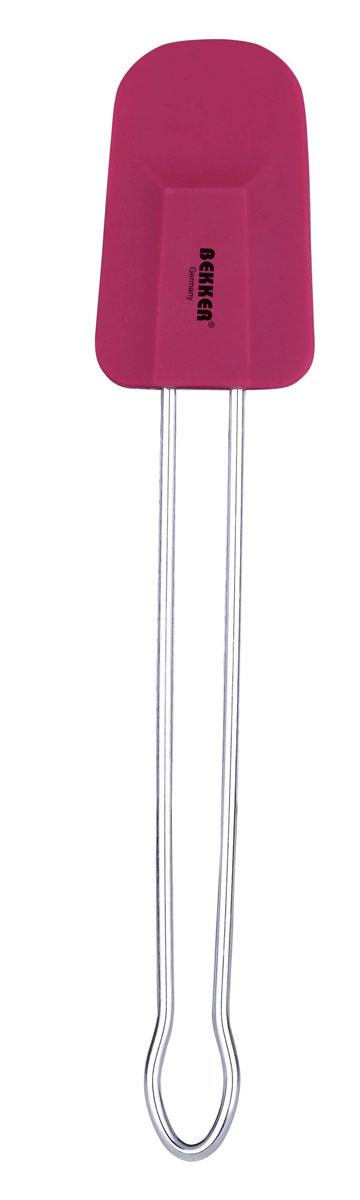 Лопатка кулинарная Bekker, цвет: вишневыйBK-9516Кулинарная лопатка Bekker станет вашим незаменимым помощником на кухне. Рабочая часть лопатки выполнена из силикона, ручка изготовлена из металла.Силиконовая часть лопатки выдерживает температуру до +230°С.Силикон абсолютно безвреден для здоровья, не впитывает запахи, не оставляет пятен, легко моется.Кулинарная лопатка Bekker - практичный и необходимый подарок любой хозяйке!Можно мыть в посудомоечной машине. Характеристики:Материал: силикон, металл.Длина лопатки: 25 см.Размер рабочей части лопатки: 8 см х 5 см х 1 см.Размер упаковки: 25 см х 7 см х 1 см.Артикул: BK-9516.
