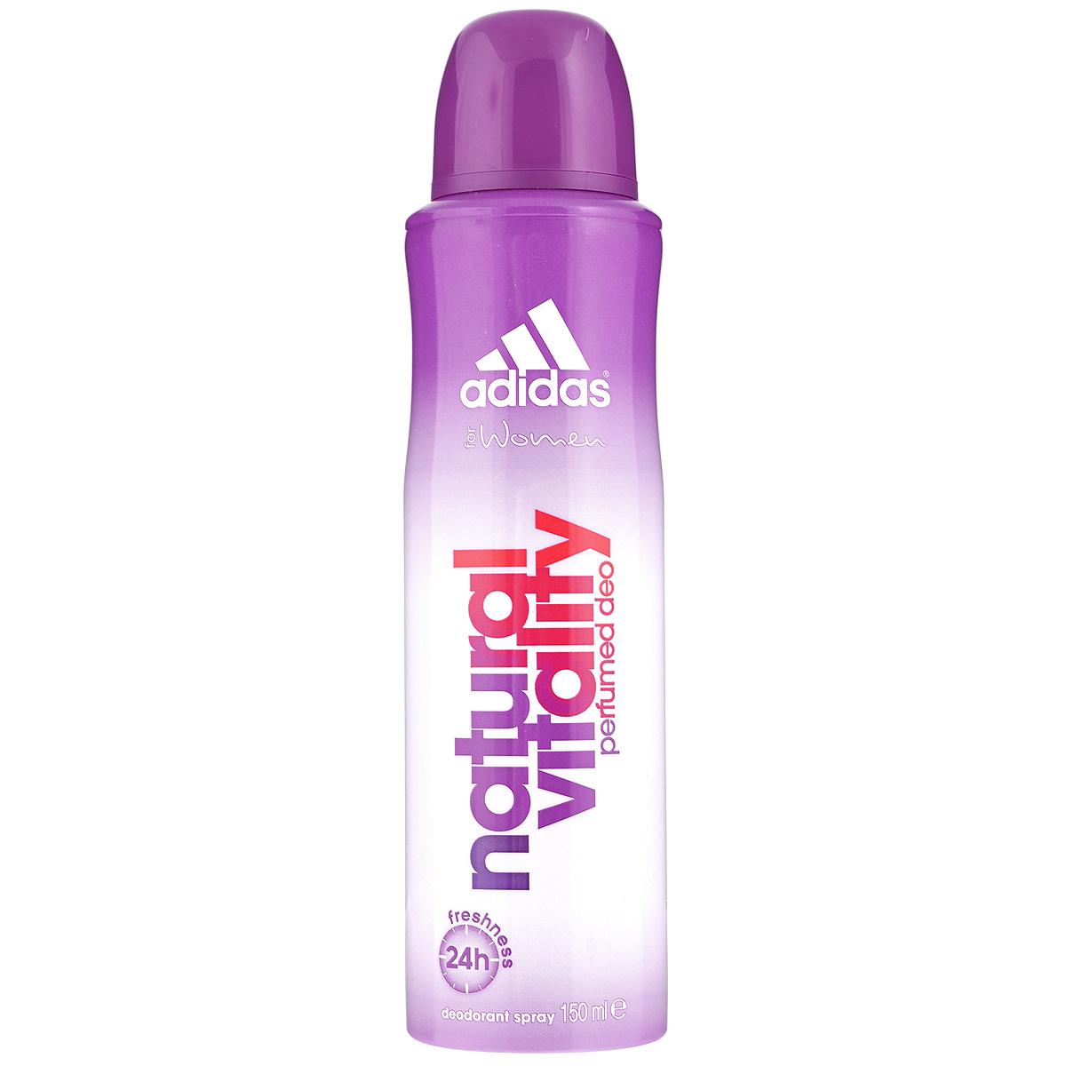 Adidas Дезодорант-спрей Natural Vitality, женский, 150 мл adidas 6in1 дезодорант антиперспирант спрей 6 в 1 для женщин 150 мл