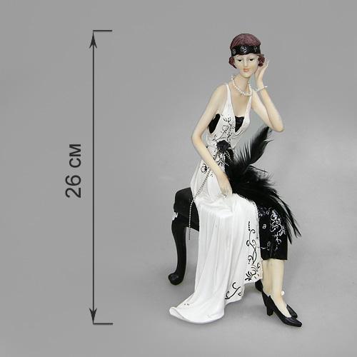 Статуэтка Кокетка на банкетке, высота 26 см514-978Статуэтка Кокетка на банкетке, выполненная из полистоуна, станет отличным украшением интерьера вашего дома или офиса. Статуэтка выполнена в виде дамы в бело-черном платье, сидящей на банкетке поправляющая волосы. Вы можете поставить статуэтку в любом месте, где она будет удачно смотреться, и радовать глаз. Также она может стать оригинальным подарком для всех любителей стильных вещей. Характеристики:Материал: полистоун. Размер статуэтки (Ш х Д х В): 12 см х 14,5 см х 26 см. Размер упаковки: 18,5 см х 16,5 см х 30,5 см. Артикул: 514-978.