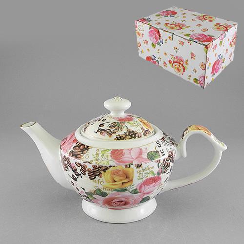 Чайник Роза и кофе, цвет: белый, 1200 мл528-367Чайник заварочный Роза и кофе изготовлен из высококачественного фарфора белого цвета. Онимеет изящную форму и декорирован цветочным орнаментом с изображением розы и кофейныхзерен. Чайник сочетает в себе изысканный дизайн с максимальной функциональностью.Красочность оформления придется по вкусу и ценителям классики, и тем, кто предпочитаетутонченность и изысканность.Чайник Роза и кофе упакован в картонную коробку. Размер чайника (без носика и ручки): 14 х 14,5 х 14 см.