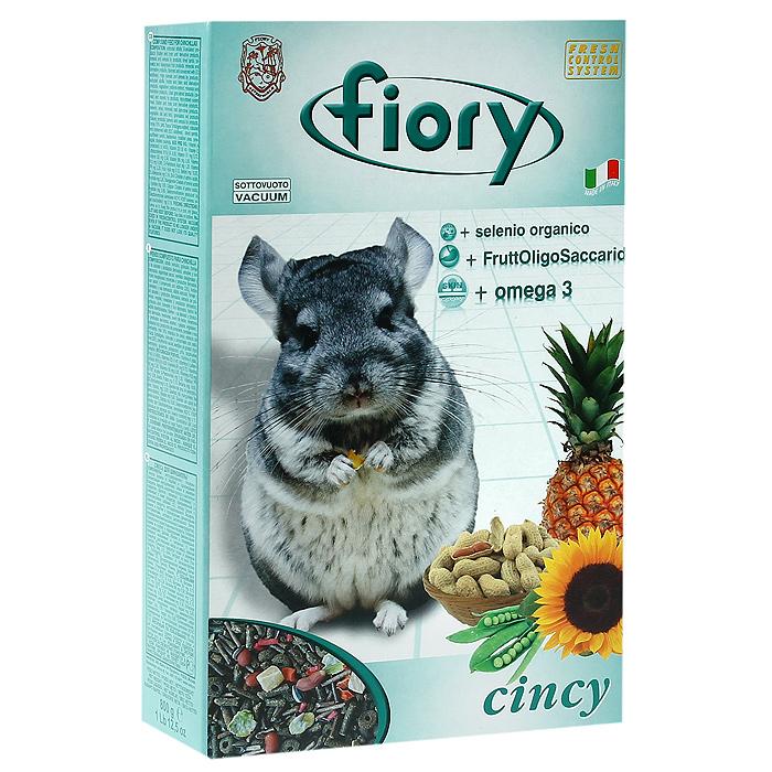 Корм для шиншилл Fiory Cincy, 800 г06547Корм Fiory Cincy - это полнорационный корм, разработанный специально для питания шиншилл. Он содержит очень большое количество трав, сена и волокнистого сырья, для того, чтобы лучше соответствовать правильным пищевым потребностям наших маленьких друзей и для того, чтобы гарантировать регулярную работу их кишечника. В смесь добавлены некоторые виды овощей, такие, как давленый горох и морковь. В небольшом количестве, чтобы не превысить допустимую норму жиров, добавлен арахис и семена подсолнечника, небольшая премия, улучшающая вкус смеси. Для облегчения выведения проглатываемой шерсти, в корм добавлены небольшие кубики ананаса, повышающие активность работы кишечника. Другой характеристикой смеси является добавление гранул:- Омега 3 - Омега 3 регулирует уровень жиров, присутствующих в крови, поддерживает и укрепляет клеточные мембраны.- Фруктоолигосахариды, полученные из корней цикория, поддерживают нормальную микрофлору в кишечнике животного и препятствуют развитию вредных микроорганизмов. - Селенометионин (Селен) - важный минерал, повышающий защиту иммунной системы.Вес: 850 г.Состав: люцерна, карруба, дрожжи, молоко, мед 10%, сало, экстракт юкки, морковь, белый подсолнечник, гречиха, ячмень, дробленый горох, ананас, очищенный арахис.Товар сертифицирован.