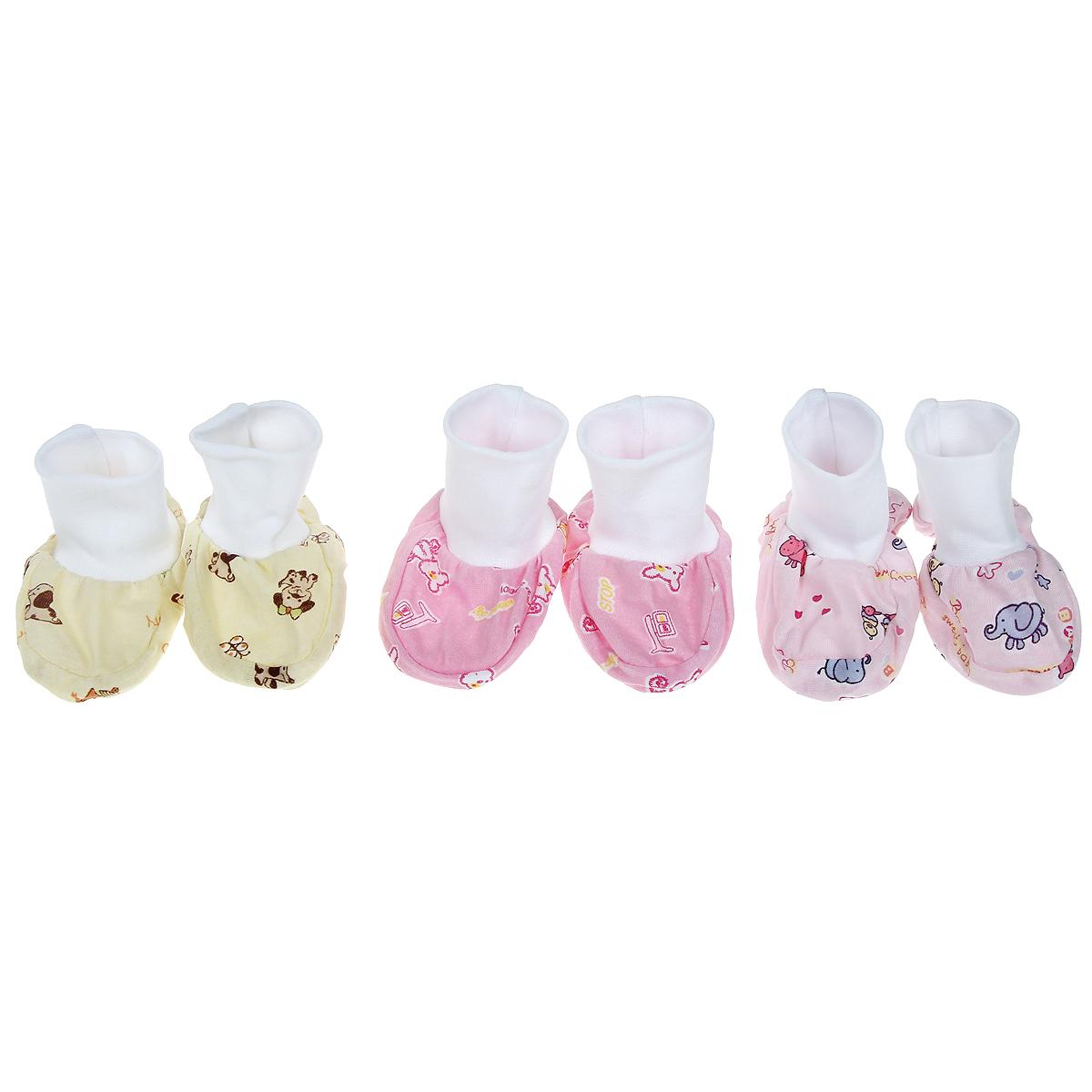 Комплект пинеток Фреш Стайл, 3 цвета, 3 пары. 10-109д. Размер 56, от 0 до 3 месяцев10-109дУдобные детские пинетки из мягкого материала. В комплекте 3 пары.