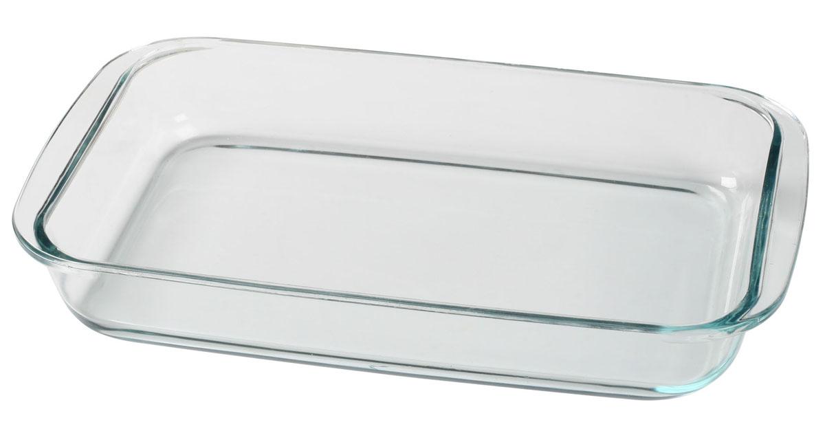 Форма Bekker для СВЧ, 2,5 лBK-8801Форма Bekker, изготовленная из термостойкого стекла прямоугольной формы, будет отличным выбором для всех любителей блюд, приготовленных в духовке, микроволновой печи или прямо на плите. Форма не вступает в реакцию с готовящейся пищей, а потому не выделяет никаких вредных веществ, не подвергается воздействию кислот и солей. Из-за невысокой теплопроводности пища в стеклянной посуде гораздо медленнее остывает. Стеклянная форма очень удобна для приготовления и подачи самых разнообразных блюд: супов, вторых блюд, десертов. Благодаря прозрачности стекла, за едой можно наблюдать при ее готовке, еду можно видеть при подаче, хранении. Используя эту форму, вы можете как приготовить пищу, так и изящно подать ее к столу, не меняя посуды. Можно мыть и сушить в посудомоечной машине. Характеристики:Материал: стекло. Размер формы:34,5 см х 20,5 см х 5 см. Объем: 2,5 л. Размер упаковки: 34,5 см х 21 см х 5,5 см.