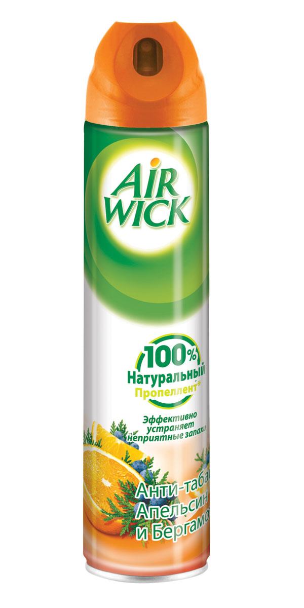 Освежитель воздуха AirWick Анти-табак. Апельсин и бергамот, 240 мл освежитель воздуха airwick антитабак свежесть водопада 240 мл