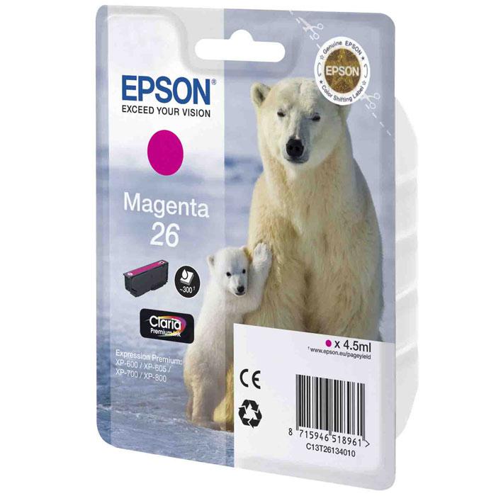 Epson 26 (C13T26134012), Magenta картридж для XP-600/XP-700/XP-800