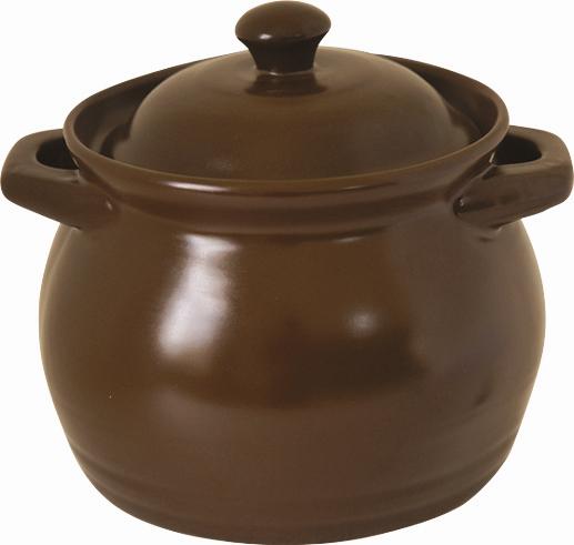 Кастрюля керамическая Bekker с крышкой, цвет: коричневый, 3,8 л кастрюля для запекания bayerhoff с крышкой в плетеной корзине керамическая диаметр 25 5 см bh 174