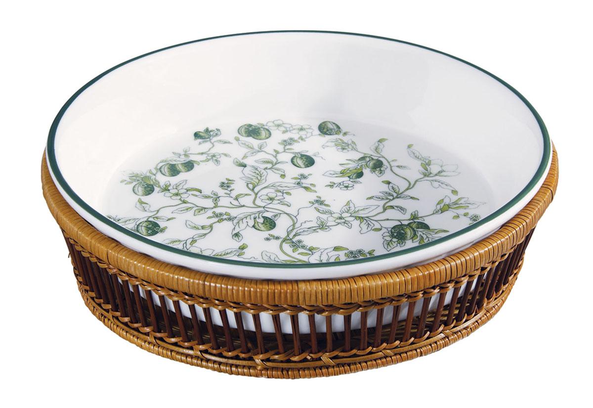 Блюдо Bekker, цвет: зеленый. BK-7000BK-7000 зеленыйКруглое блюдо Bekker, изготовленное из высококачественного фарфора, сочетает в себе изысканный дизайн с максимальной функциональностью. Красочность оформления придется по вкусу и ценителям классики, и тем, кто предпочитает утонченность и изысканность. В комплекте плетеная подставка под блюдо. Подходит для приготовления блюд в печи и духовом шкафу. Блюдо Bekker украсит сервировку вашего стола и подчеркнет прекрасный вкус хозяина, а также станет отличным подарком. Характеристики: Материал:жаропрочная керамика, дерево. Диаметр блюда:28 см. Высота блюда: 6 см. Размер упаковки: 30,5 см х 30,5 см х 8 см.