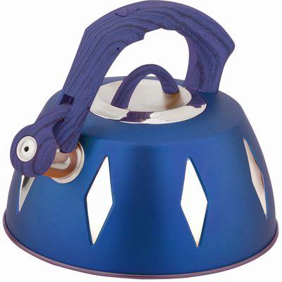 Чайник металлический Bekker De Luxe, цвет: синий, 2,8 л. BK-S455BK-S455 синийКорпус чайника Bekker De Luxe выполнен из высококачественной нержавеющей стали, что обеспечивает долговечность использования. Цветной корпус. Пластмассовая фиксированная ручка с прорезиненным покрытием делает использование чайника очень удобным и безопасным. Чайник снабжен свистком и устройством для открывания носика. Капсулированное дно. Подходит для использования на электрических, газовых, стеклокерамических, галогеновых,Можно мыть в посудомоечной машине. Характеристики: Материал:нержавеющая сталь, пластик, резина. Объем:2,8 л. Диаметр основания чайника: 22,5 см. Толщина стенки: 0,5 мм. Высота чайника (без учета ручки):11 см. Размер упаковки: 22,5 см х 22,5 см х 20 см.