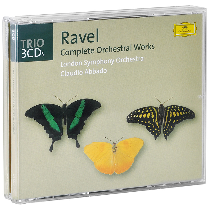 Клаудио Аббадо,London Symphony Chorus,The London Symphony Orchestra Claudio Abbado. Ravel. Complete Orchestral Works (3 CD) claudio abbado sting prokofiev peter and the wolf