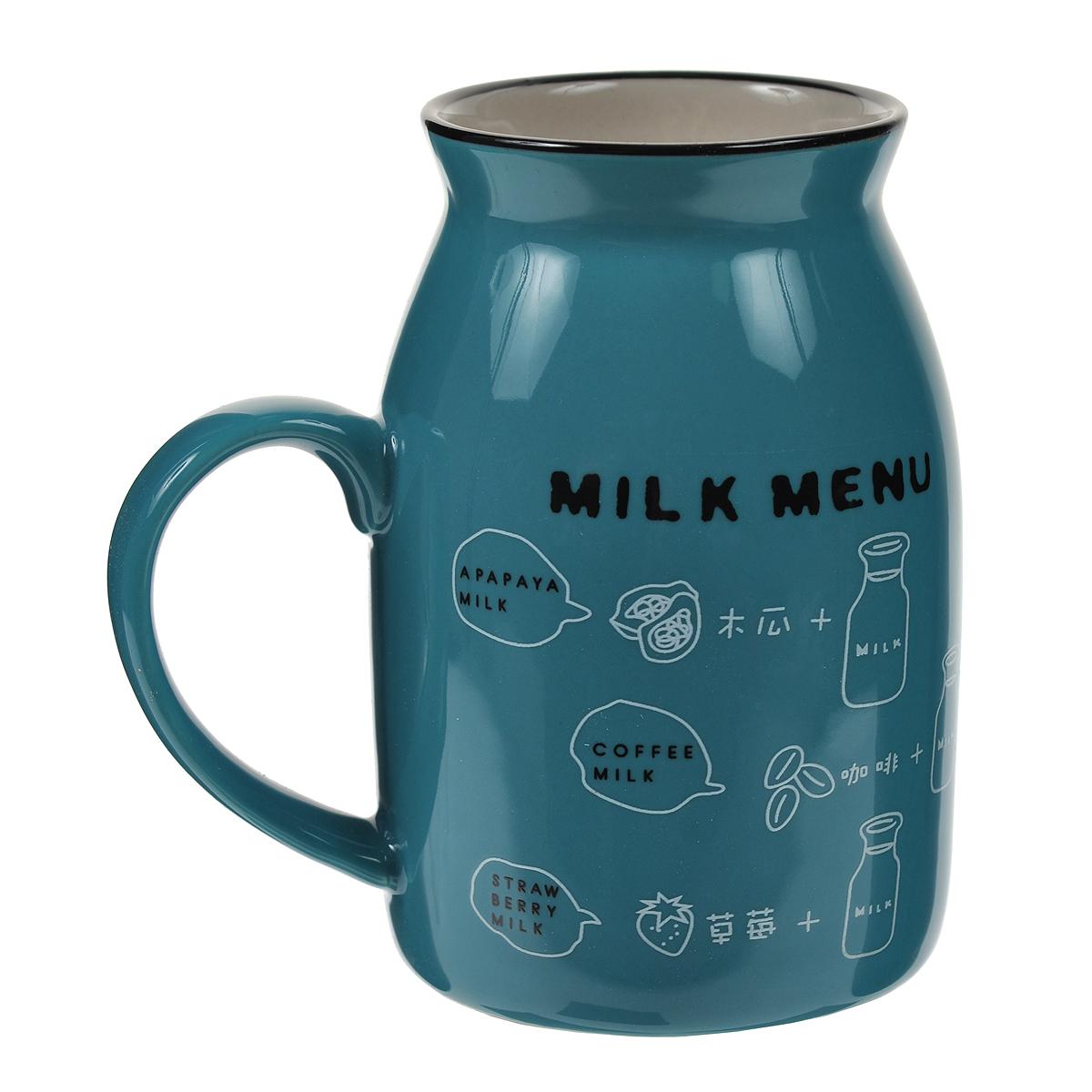 Кружка Milk, цвет: бирюзовый003069Оригинальная кружка Milk, выполненная из керамики, станет отличным подарком для человека, ценящего забавные и практичные подарки. Кружка выполнена в виде бидона для молока. Такой подарок станет не только приятным, но и практичным сувениром, а оригинальный дизайн вызовет улыбку. Характеристики:Материал:керамика. Высота кружки:10 см. Диаметр по верхнему краю:5,5 см. Размер упаковки:10 см х 7,5 см х 11 см. Артикул: 003069.