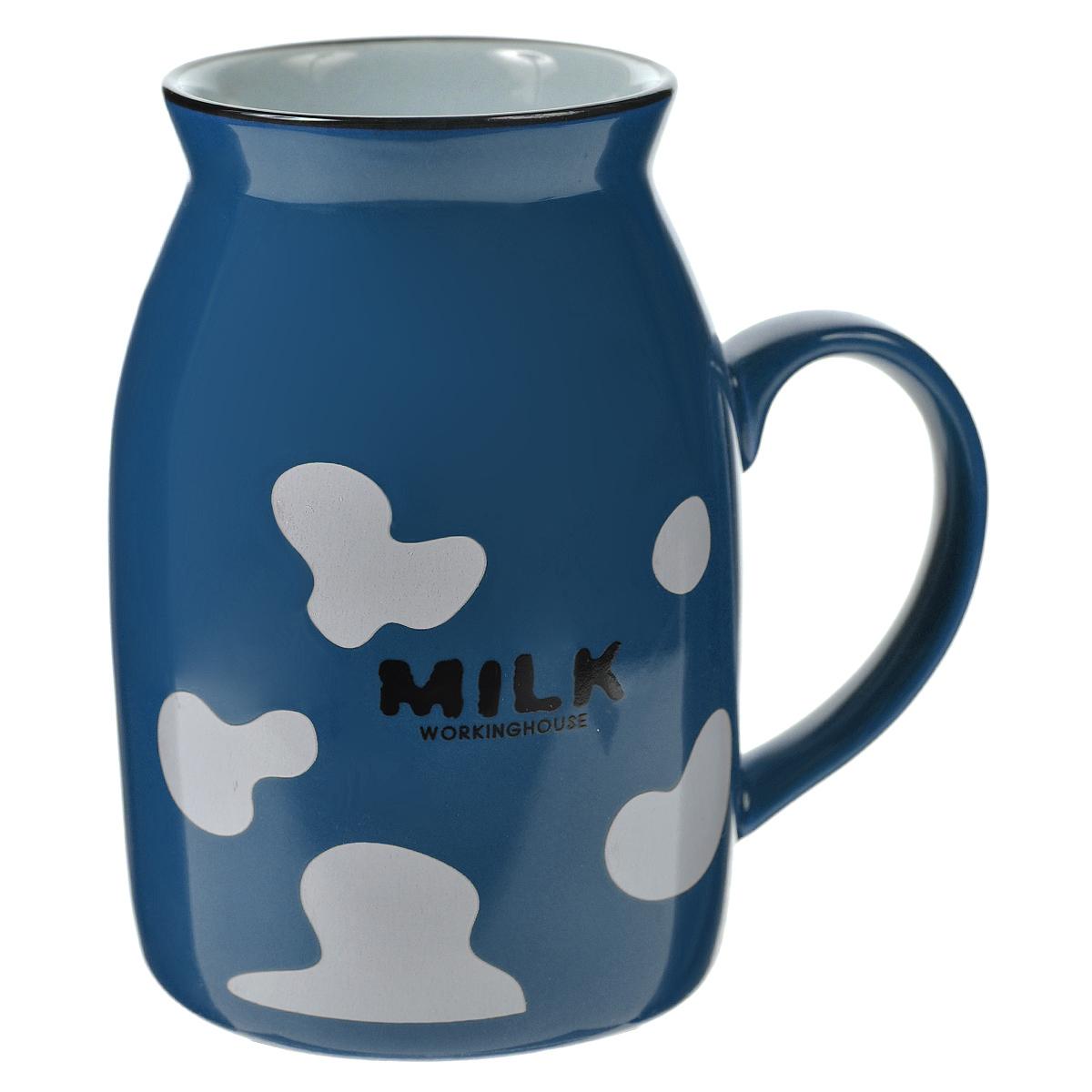 Кружка Milk, цвет: синий003067Оригинальная кружка Milk, выполненная из керамики, станет отличным подарком для человека, ценящего забавные и практичные подарки. Кружка выполнена в виде бидона для молока. Такой подарок станет не только приятным, но и практичным сувениром, а оригинальный дизайн вызовет улыбку. Характеристики:Материал:керамика. Высота кружки:10 см. Диаметр по верхнему краю:5,5 см. Размер упаковки:10 см х 7,5 см х 11 см. Артикул: 003067.