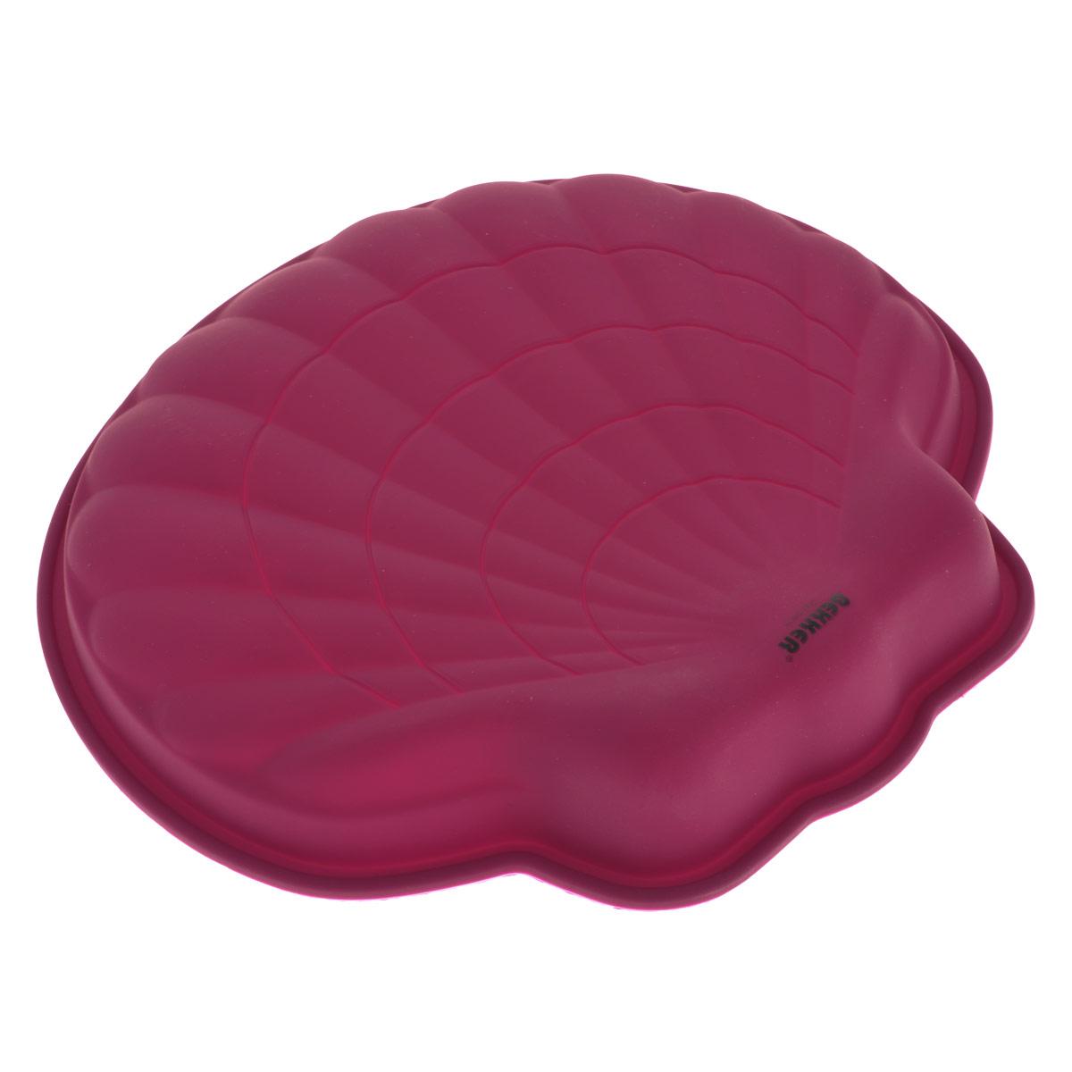 Форма для выпечки Bekker Ракушка, цвет: вишневый. BK-9441BK-9441Форма для выпечки Bekker Ракушка изготовлена из силикона вишневого цвета - материала, который выдерживает температура от -50°С до +250°С. Изделия из силикона очень удобны в использовании: пища в них не пригорает и не прилипает к стенкам, легко моется. Приготовленное блюдо можно очень просто вытащить, просто перевернув форму, при этом внешний вид блюда не нарушится. Изделие обладает эластичными свойствами: складывается без изломов, восстанавливает свою первоначальную форму. Подходит для приготовления в микроволновой печи и духовом шкафу при нагревании до +250°С; для замораживания до -50°С и чистки в посудомоечной машине. Рекомендации по использованию: - не помещайте форму непосредственно на источник тепла (открытый огонь, гриль), - не используйте нож для резки продуктов в форме, - не используйте CRISP функцию при приготовлении в микроволновой печи, - не используйте для чистки абразивные средства, скребки и щетки. Характеристики:Материал: силикон. Цвет: вишневый. Размер формы (ДхШхВ): 24 см х 23 см х 3,5 см. Производитель: Германия. Изготовитель: Китай. Артикул: BK-9441.