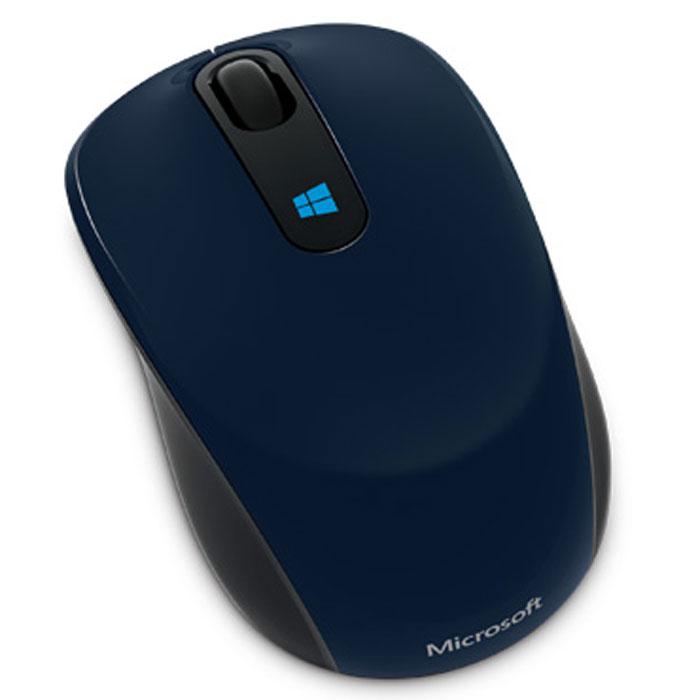 Microsoft Sculpt Mobile Mouse, Deep Blue беспроводная мышь мышь беспроводная microsoft sculpt ergo usb 1000dpi черный l6v 00005