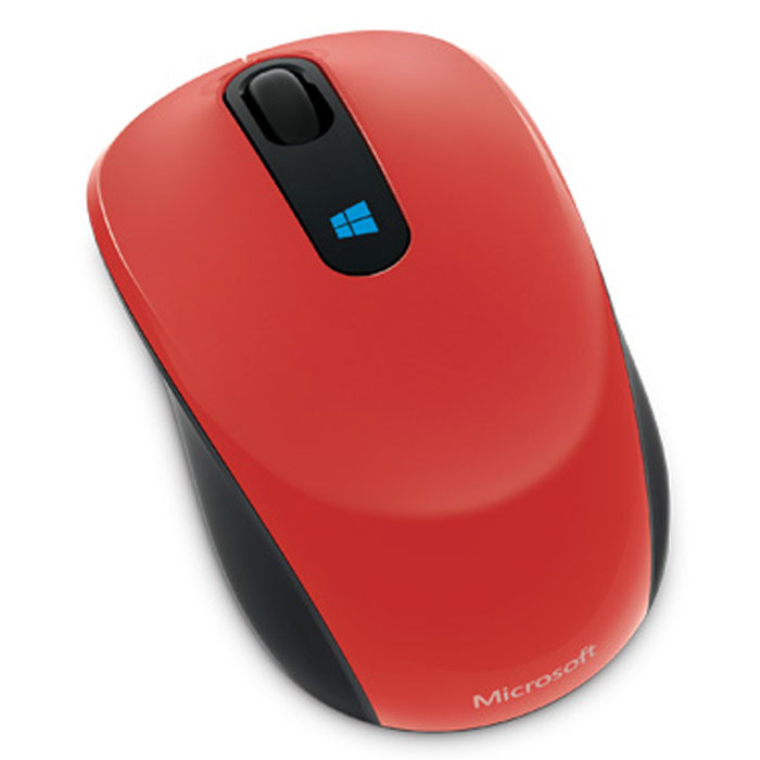 Microsoft Sculpt Mobile Mouse, Red беспроводная мышь