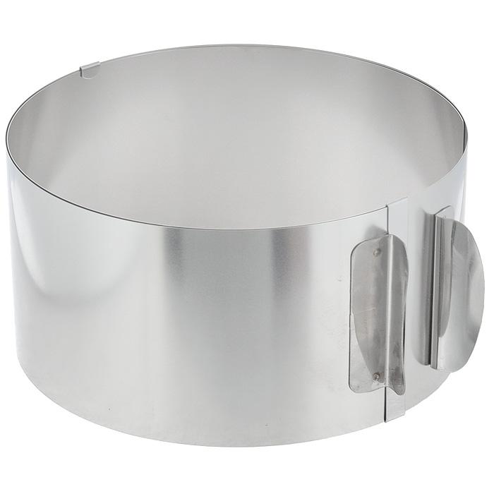 Кольцо для выпечки Gefu, высота 8,5 см14308Кольцо для выпечки Gefu изготовлено из нержавеющей стали. Конструкция кольца такова, что позволяет регулировать диаметр от 16,5 см до 32 см. Может использоваться для приготовления тортов и салатов. Для облегчения процесса чистки полностью выпрямляется. Можно мыть в посудомоечной машине. Характеристики:Материал: нержавеющая сталь. Диаметр кольца: 16,5-32 см. Высота стенки кольца: 8,5 см. Размер упаковки: 17 см х 17 см х 8,5 см. Артикул: 4308.