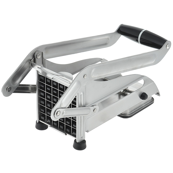 Машинка для резки картофеля Gefu13750Машинка для нарезки картофеля Gefu изготовлена из высококачественного пластика и нержавеющей стали. Блок ножей обеспечивает нарезание 36 стержней размером 1,2 см х 1,2 см. Специальное вакуумное устройство обеспечивает закрепление прибора на гладкой поверхности. Блок ножей легко снимает для очистки.Можно мыть в посудомоечной машине. Характеристики: Материал: сталь, пластик. Размер: 25 см х 9,5 см х 12,5 см. Производитель: Германия. Артикул: 13750.