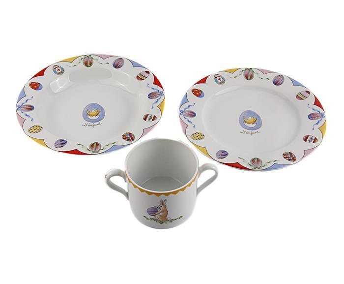 Пасхальный набор посуды от Фаберже. Фарфор, роспись. Limoges по заказу Фаберже, Франция, конец XX века