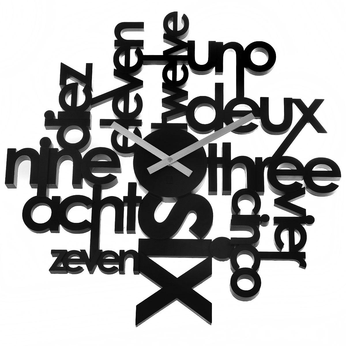 Часы настенные Lingua, цвет: черный. 118990-040 часы настенные lingua цвет черный 118990 040