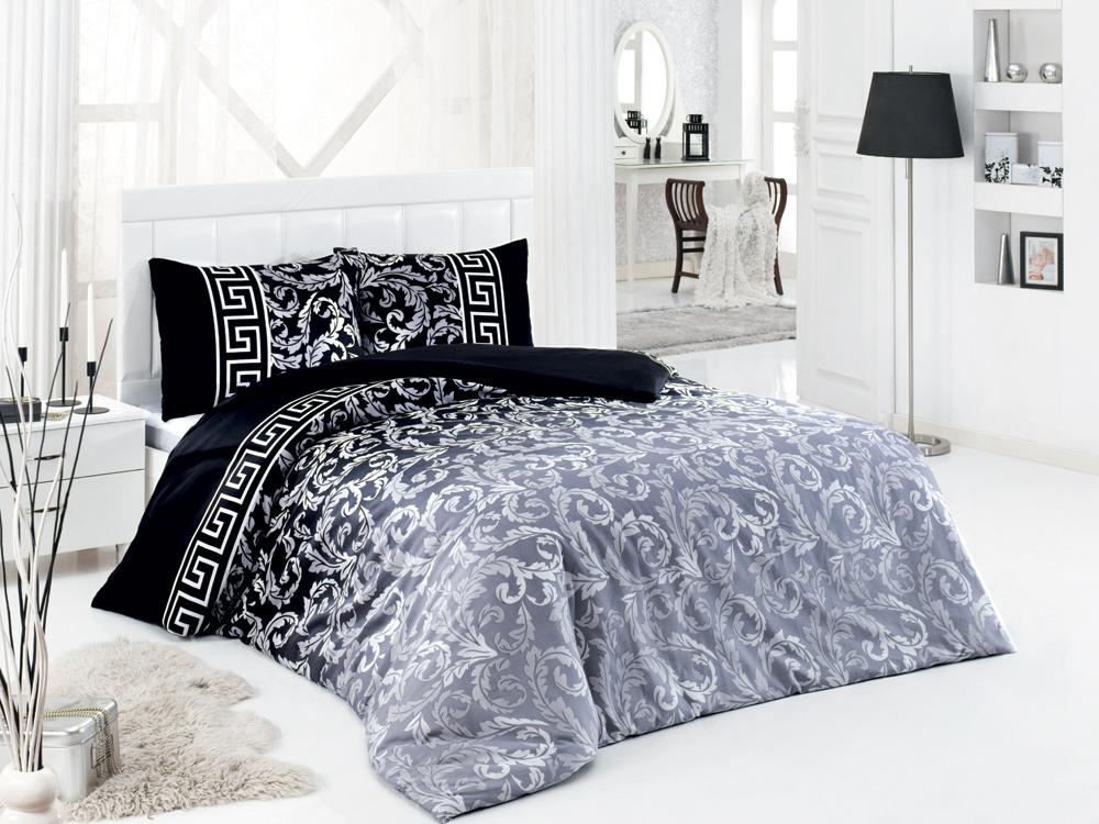 Комплект белья ASTERIA Home Silvery, 2-спальный, наволочки 50х70, цвет: черный, серый, белыйSilveryКомплект белья ASTERIA Home Silvery, изготовленный из сатина, состоит из пододеяльника, простыни и двух наволочек. Постельное белье имеет изысканный внешний вид и обладает яркостью и сочностью цвета. Сатин производится из высших сортов хлопка, а своим блеском, легкостью и на ощупь напоминает шелк. Такая ткань рассчитана на 200 стирок и более. Постельное белье из сатина превращает жаркие летние ночи в прохладные и освежающие, а холодные зимние - в теплые и согревающие.