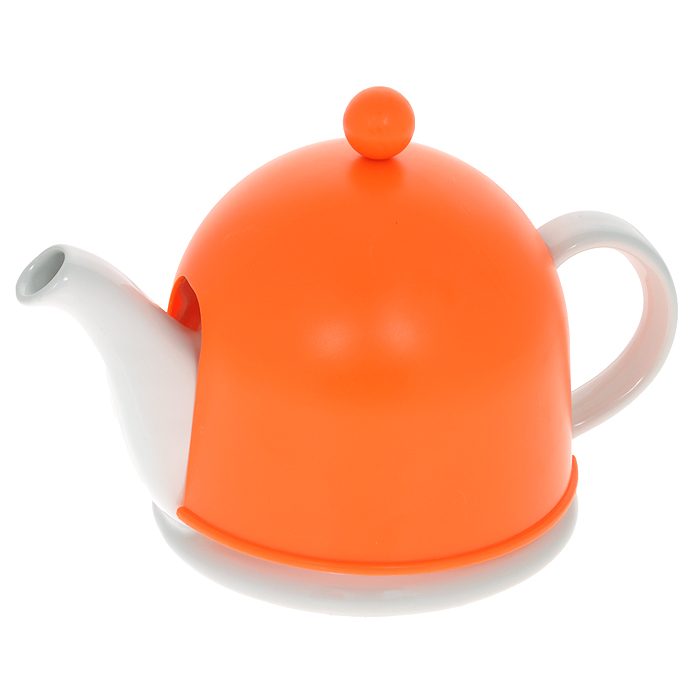 Чайник заварочный Mayer & Boch, с термоколпаком, цвет: белый, оранжевый, 500 мл21877Заварочный чайник Mayer & Boch, выполненный из керамики белого цвета, позволит вам заварить свежий, ароматный чай. Чайник оснащен сетчатым фильтром из нержавеющей стали. Он задерживает чаинки и предотвращает их попадание в чашку. Сверху на чайник одевается термоколпак из пластика с тканевой прослойкой. Он поможет дольше удерживать тепло, а значит, вода в чайнике дольше будет оставаться горячей и пригодной для заваривания чая. Заварочный чайник Mayer & Boch послужит хорошим подарком для друзей и близких.Диаметр основания чайника: 14 см.Высота чайника (без учета ручки и крышки): 9,5 см.Размер термоколпака: 14,5 см х 14,5 см х 13 см.