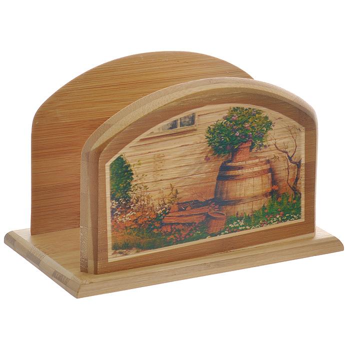 Держатель для салфеток Hans & Gretchen. 32HS-500132HS-5001Оригинальный держатель для салфеток Hans & Gretchen изготовлен из дерева и декорирован оригинальным рисунком. Очень удобный и стильный он предназначен для хранения салфеток. С помощью специального отверстия вы можете подвесить его в любом удобном для Вас месте.Держатель для салфеток прекрасно подойдет к интерьеру Вашей кухни или профессиональных заведений - кафе, ресторанов, а также будет отличным подарком! Характеристики: Материал:дерево. Размеры: 17 см х 10 см х 10 см. Страна: Германия. Артикул:32HS-5001.