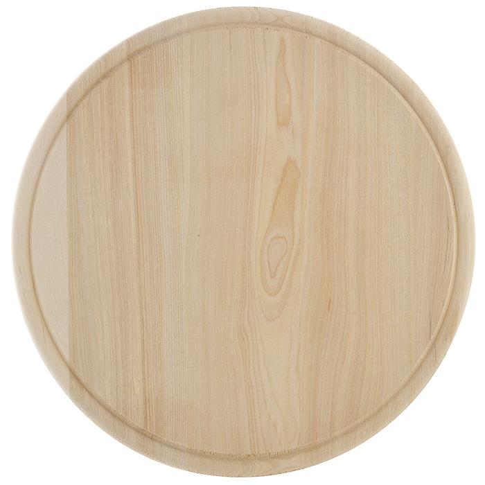 Доска разделочная Hans & Gretchen. 9924599245Доска разделочная Hans & Gretchen изготовлена из дерева. Прекрасно подходит для приготовления и сервировки пищи. Всем известно, что на кухне без разделочной доски не обойтись! Ведь во время приготовления пищи мы то и дело что-то режем. Поэтому разделочная доска должна быть изготовлена из прочного и экологически чистого материала, ведь с ней соприкасается наша пища. Характеристики:Материал: дерево. Диаметр доски: 29,5 см. Производитель: Германия. Артикул: 99245.