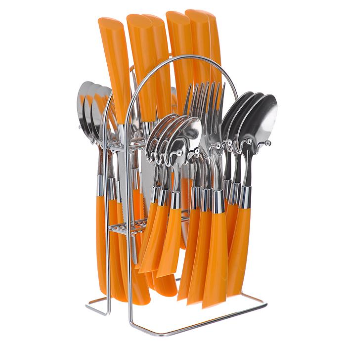 Набор столовых приборов Mayer&Boch, цвет: оранжевый, 24 предмета. 20687-1