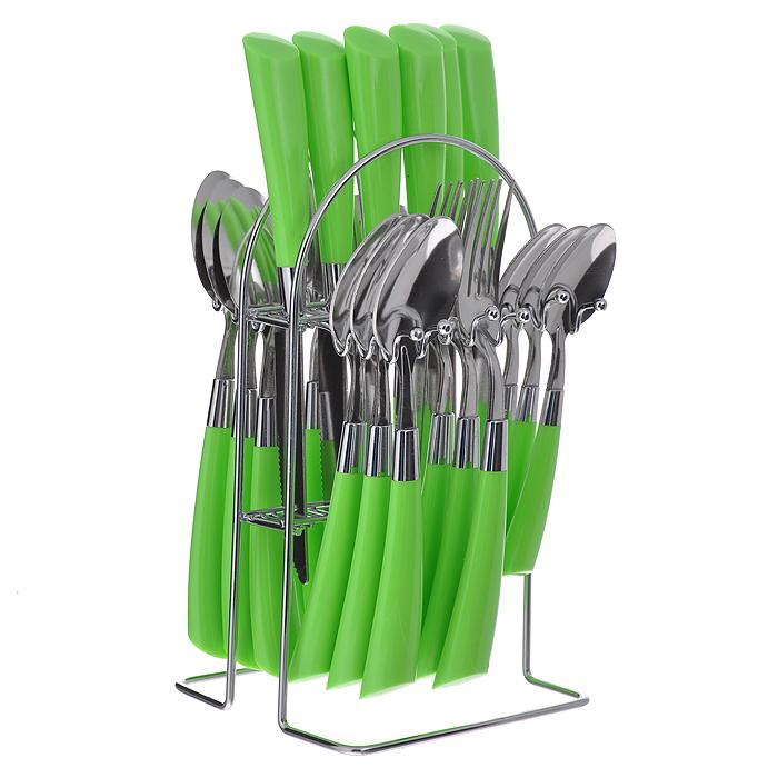 Набор столовых приборов Mayer&Boch, цвет: салатовый, 25 предметов. 20687-1