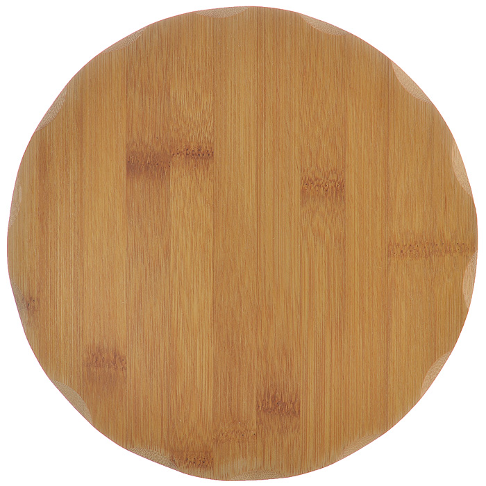 Доска разделочная Hans & Gretchen, диаметр 23 см99526Круглая разделочная доска Hans & Gretchen выполнена из натурального бамбука. Бамбук обладает природными антибактериальными свойствами. Доски отличаются долговечностью, большой прочностью и высокой плотностью, легко моются, не впитывают запахи и обладают водоотталкивающими свойствами, при длительном использовании не деформируются. Разделочная доска Hans & Gretchen прекрасно подойдет для приготовления и сервировки пищи.Рекомендации по уходу: - очищать сразу после использования; - просушивать после мытья; - не использовать при высокой температуре. Характеристики: Материал: бамбук. Размер разделочной доски: 23 см х 23 см х 1 см. Артикул: 99526.