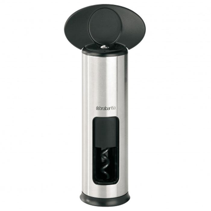 """Штопор Brabantia """"Classic Matt Steel"""", винтовой, цвет: черный, серебристый. 369360"""